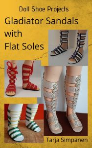 Doll Shoe Projects: Gladiator Sandals with Flat Soles
